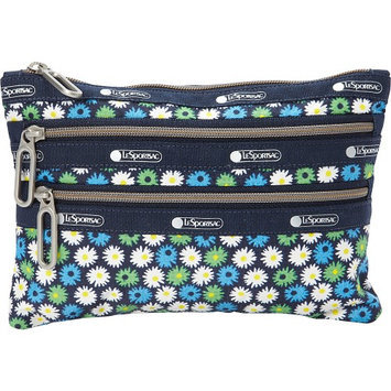 LeSportsac Classic 3 Zip Pouch Travel Daisy - LeSportsac Ladies Cosmetic Bags