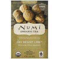 Numi Tea Dry Desert Lime, Herbal Teasan in Teabags, 18-Count Box (Pack of 6)