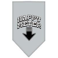 Mirage Pet Products 6628 SMGY Happy Meter Screen Print Bandana Grey Small