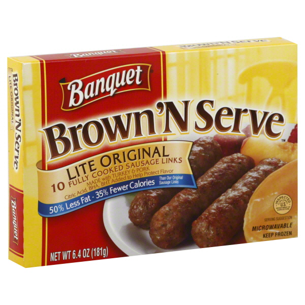 Banquet® Brown'N Serve™  Fully Cooked Original Sausage