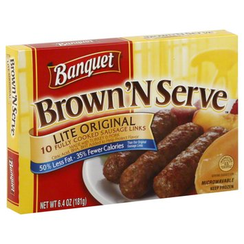 Banquet Brown 'N SErve Fully Cooked Sausage Links
