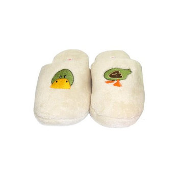 Bath Accessories Chenille Embroidered Spa Slippers