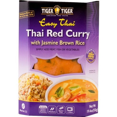 Tiger Tiger Thai Red Curry With Jasmine Brown Rice, 19.4 Ounce Box (Pack of 6)