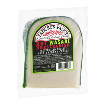 Yancey's Fancy Cheddar Cheese Hot Wasabi Horseradish