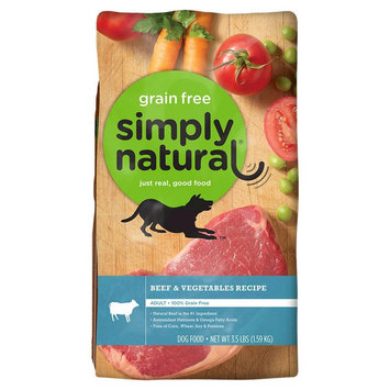 Simply Natural DOG FD, BEEF & VEGETABLE, (Pack of 4)