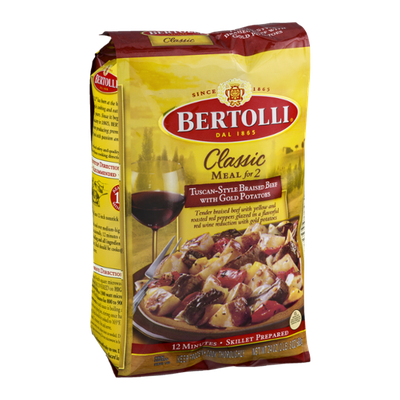 Bertolli Classic Meal for 2 Tuscan-Style Braised Beef with Gold Potatoes