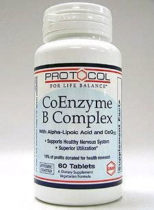 CoEnzyme B Complex 60 tabs by Protocol For Life Balance