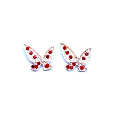 Linda Fashion Butterfly Rhinestone Stud Earrings