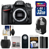 Nikon D7200 Wi-Fi Digital SLR Camera Body - Factory Refurbished with 32GB Card + Battery + Backpack + Kit