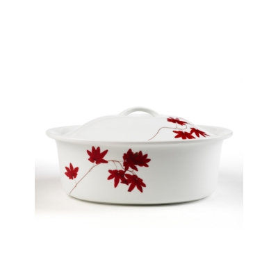 Mikasa Dinnerware, Pure Red Oval Covered Casserole