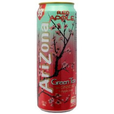 Arizona Red Apple Green Tea, 23-Ounces (Pack Of 24)