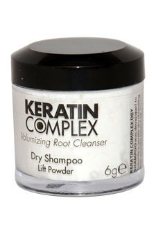 Keratin Complex Volumizing Dry Shampoo Lift Powder - White by Keratin for Unisex - 0.21 oz Powder