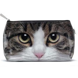 Catseye Tabby Cat Cosmetic Wash Bag