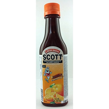 Unknown Scott's Emulsion Orange 6.5 Oz Vitamin A & D
