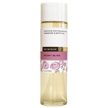 Terra Nova Terranova Peony Bliss Renewing Evening Primrose Massage and Body Oil, 8.7 Ounce
