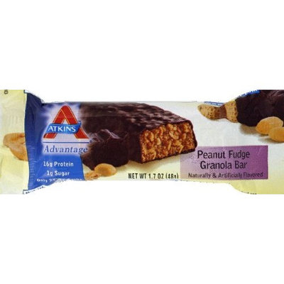 Atkins Advantage Bar Peanut Fudge Granola, Peanut Fudge Granola 48 gms(case of 12)