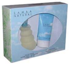 Samba Natural By Perfumers Workshop For Women. Gift Set ( Eau De Toilette Spray 3.3 Oz + Body Lotion 4.4 Oz).