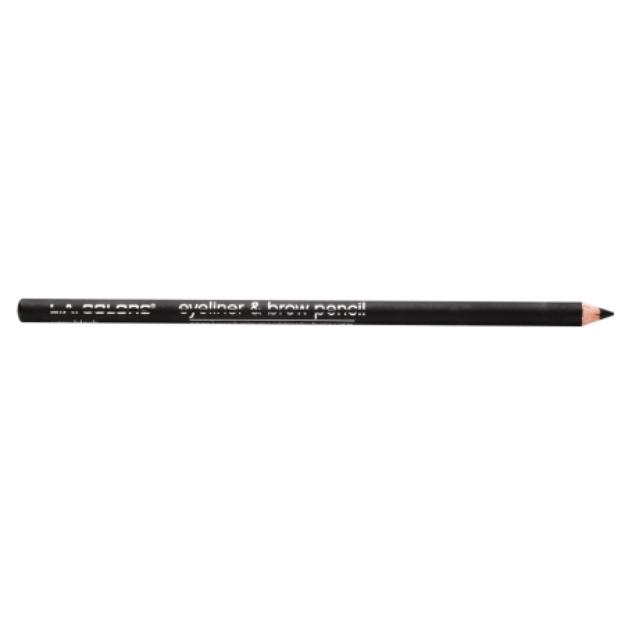 L.A. Colors Eyeliner & Brow Pencil, Very Black, .05 oz