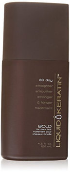 Liquid Keratin 30 Day Straighter Smoother Stronger and Longer Bold for Dark Hair Treatment