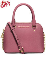 Michael Kors Cindy Extra-Small Saffiano Leather Crossbody in Tulip