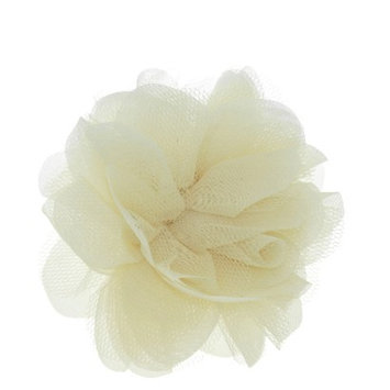 RIVIERA, A STYLEMARK CO Women's Riviera Flower Salon Clip/Pin - Ivory