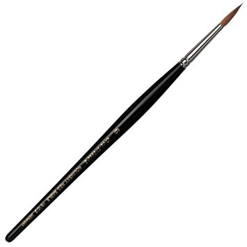 Da Vinci Series 15102 Round Nail Brush with Kolinsky Red Sable Hair and Acetone Resistant Handles