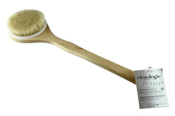 Clean Logic Wooden Handle Bristle Bath Brush