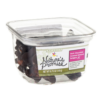 Nature's Promise Dark Chocolate Caramel Almond Delights