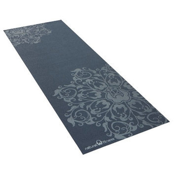 Natural Fitness Eco-Smart Yoga Mat - 24 in x 69 in x 4mm, Indigo/Aqua, 1 ea