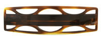 Caravan Large Automatic Barrette in a Jumping Jack Design Design in Tortoise Shell Color