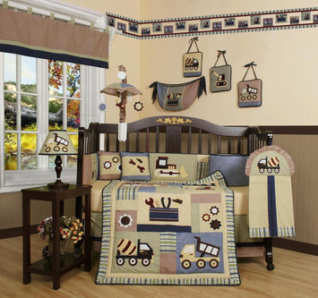 Geenny GEENNY Baby Boy Constructor 13PCS Crib Bedding Set