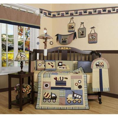 Geenny GEENNY Baby Boy Constructor 13PCS Crib Bedding Set
