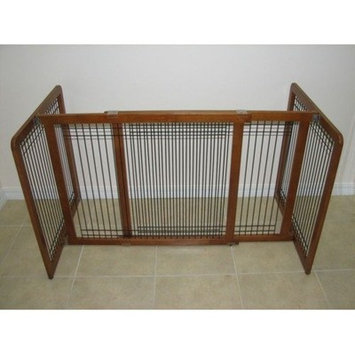 Crown Pet Products Freestanding Wood and Wire Pet Gate Size: 30