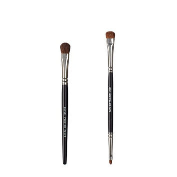 VEGAN LOVE The Chisel Collection Make Up Brush Set (Chisel Pointed Fluff Duo Detail Deluxe)