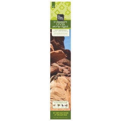 All Living ThingsA Reptile Desert UVB Strip Ligh Fixture & Light Bulb