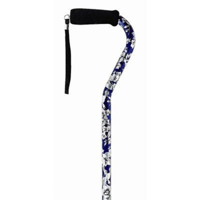 Medbasix Offset Single Point Cane Color: Blue Flower