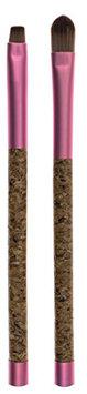Danielle Enterprises Cork Collection Eyeshadow/Eyeliner Duo Makeup Brush Set