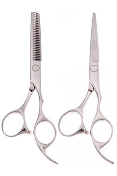 ShearsDirect Ergonomic Cutting Shear and 28 Tooth Thinner Scissors