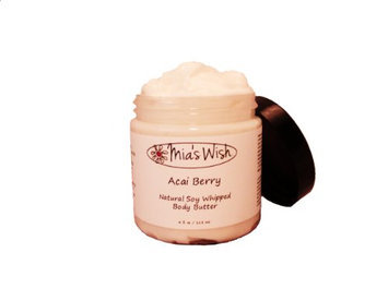 Mia's Wish Acai Berry Natural Soy Whipped Body Butter
