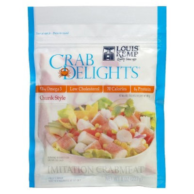 Trident Seafoods Louis Kemp Crab Delights Chunk Style Imitation Crabmeat 8 oz