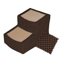Pet Gear Chocolate Designer 2 Step Stair with Removable Cover