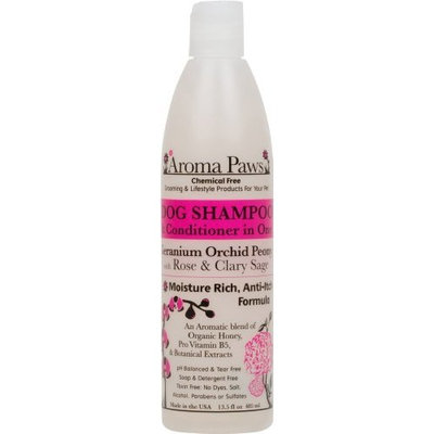 Aroma Paws Chemical Free Luxury Dog Shampoo & Conditioner, Anti-Itch Formula, Geranium Orchid Sage