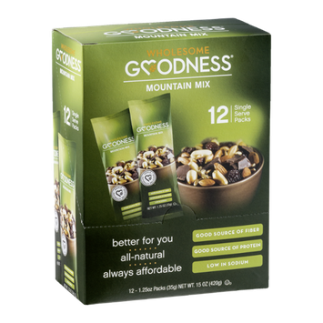 Wholesome Goodness Single Serve Packs Mountain Mix - 12 CT