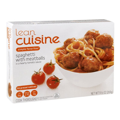Lean Cuisine Simple Favorites Spaghetti with Meatballs