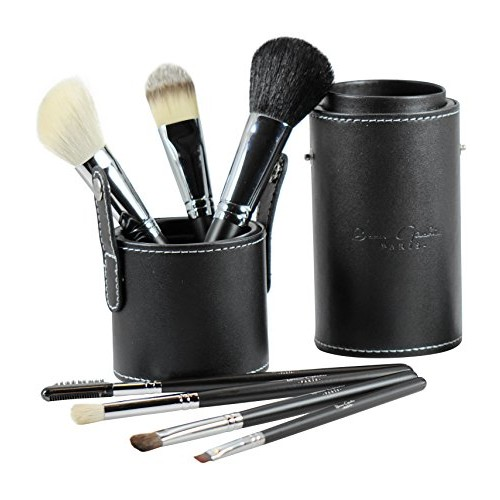 Beau Gâchis Paris Beau Gâchis® Paris Makeup Brushes Natural Hair - Best Professional Quality 7 Piece Make up Brush Set Kit with Holder - Organizer [7 Piece Makeup Brush Set with Leather Case]