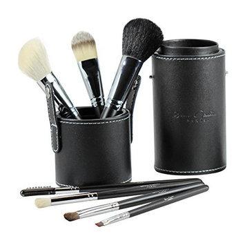 Beau Gâchis Paris Beau Gâchis® Paris Makeup Brushes Natural Hair - Best Professional Quality 7 Piece Make up Brush Set Kit with Holder - Organizer [7 Piece Makeup Brush Set with Leather Case]
