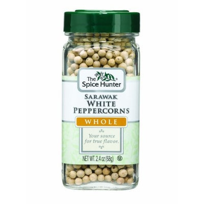 The Spice Hunter Peppercorns, White, Sarawak, Whole, 2.4-Ounce Jars (Pack of 6)