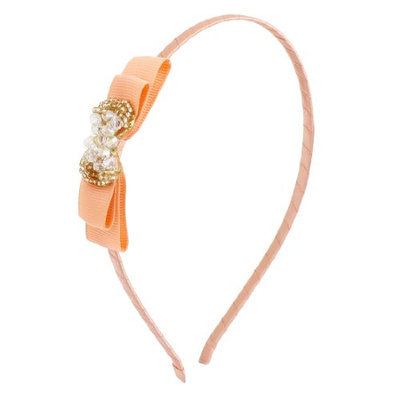 Uxcell Women Plastic Crystal Bowknot Ornament Hairband Hair Hoop