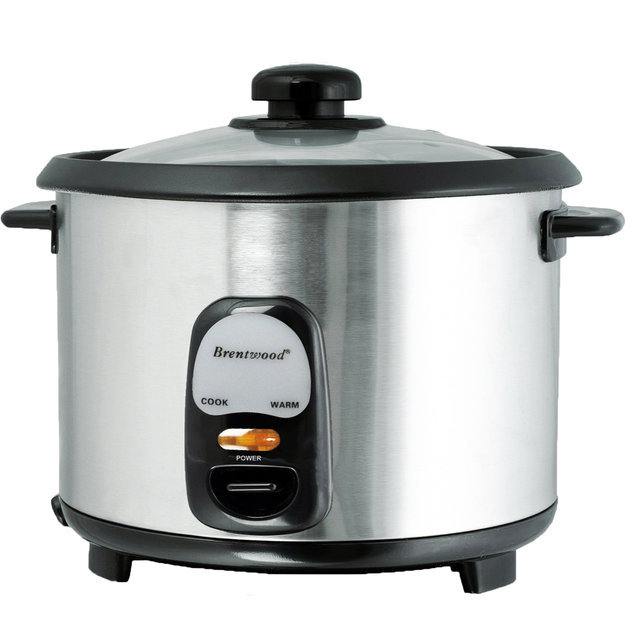 Brentwood TS-20 10 Cup Rice Cooker - Stainless Steel