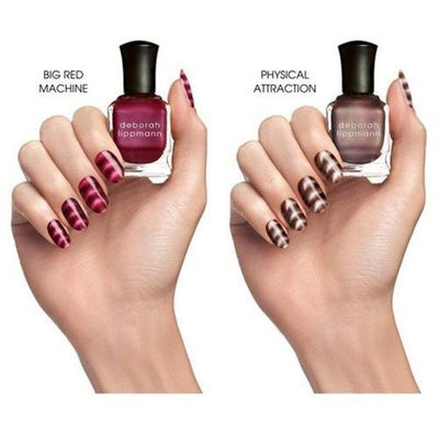 Lippmann Collection Nails Of Steel Magnetic Wave Design Nail Lacquer Set (for Women)